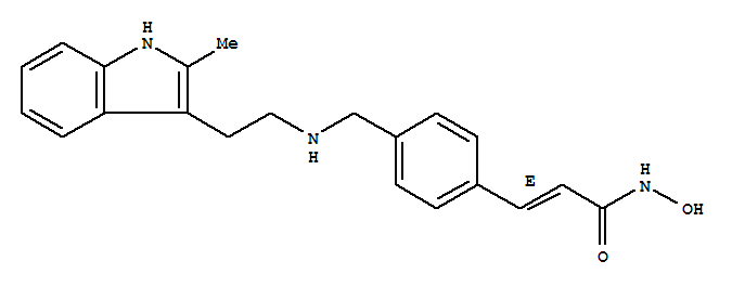2-Propenamide,N-hydroxy-3-[4-[[[2-(2-methyl-1H-indol-3-yl)ethyl]amino]methyl]phenyl]-, (2E)-