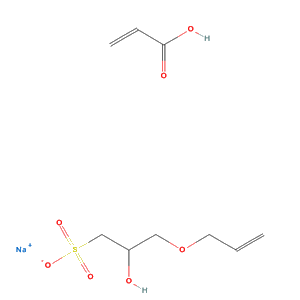 2-Propenoic acid, polymer with 2-hydroxy-3-(2-propenyloxy)-1-propanesulfonic acid monosodium salt (C9H15NaO7S)