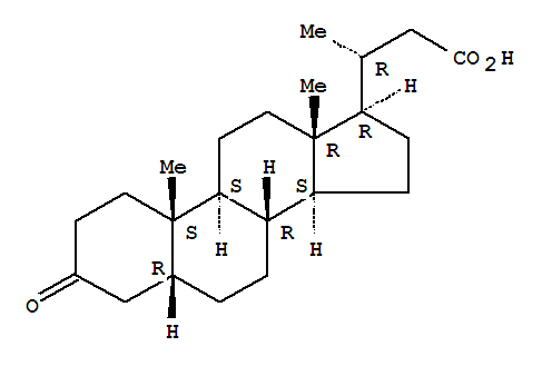 24-Norcholan-23-oicacid, 3-oxo-, (5b)-