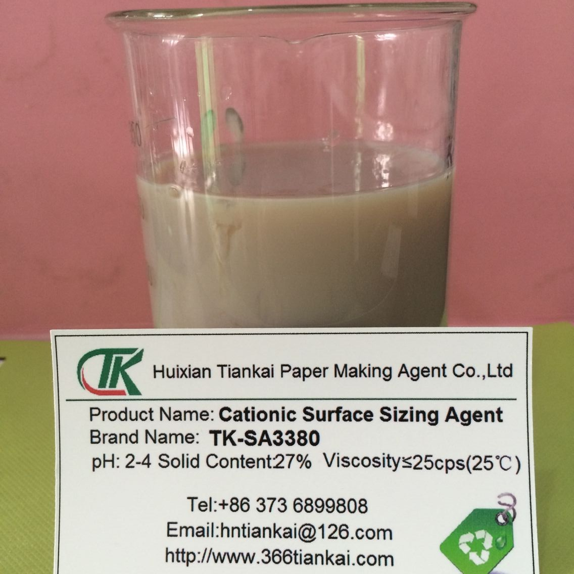 Cationic surface sizing agent TK-SA3380 paper chemical